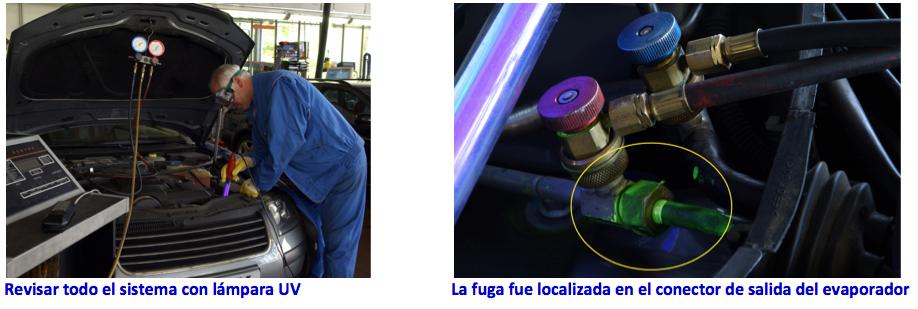 Auto Coche Aire Acondicionado Detector De Fugas A//C UV Lámpara Luz de detección de fugas de gas y R