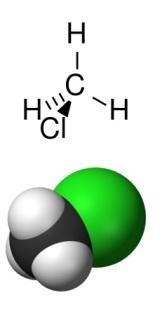 clorometano fórmula y representación