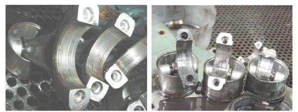 Compresores 2 - 4 - Bielas con rayaduras retiradas de compresor dañado