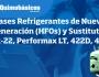 Gases Refrigerantes de Nueva Generación (HFO's) y Sustitutos de R-22, Performax LT, 422D,410A